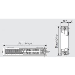 Vono Ulow E2 Tieftemperaturheizkörper 22 BH 600 / BL...