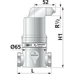 Mikroluftblasenabscheider Spirovent Solar AutoClose 22mm...