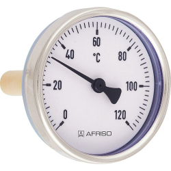 "Bimetall-Zeigerthermometer 1/2"" 40mm 0-120 C°..."