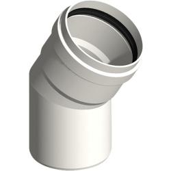 Abgasrohr Kunststoff EW Bogen 45°