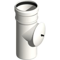 Abgasrohr Kunststoff EW Reinigungsöffnung