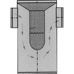 Abgas-Schalldämpfer in T-Form