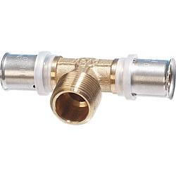 T-Stück mit AG 20x2mm-1/2-20x2mm