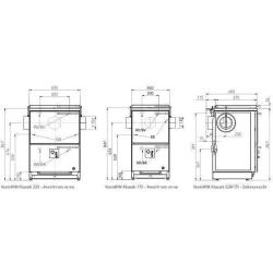 VestoWin Klassik 170 weiss 16,9KW mit Stahlherdplatte