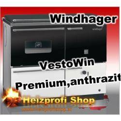 Vesto Win Premium 200 mit Backrohr links  grau 19,9 KW mit Stahl Herdplatte