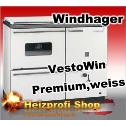 Vesto Win Premium 200 mit Backrohr rechts  weiss 19,9 KW mit Stahl Herdplatte