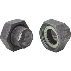 Pumpen-Verschraubungen 1 Paar/2Stk  Temperguss schwarz  1...