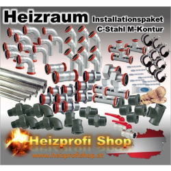 C-Stahl Heiz-Technikraumpaket Medium 35 mm
