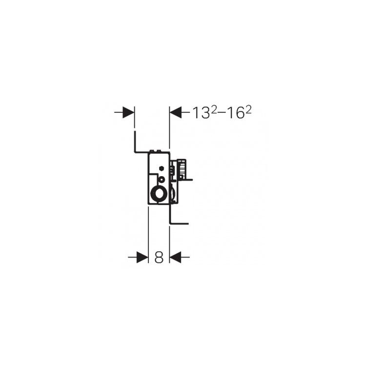 duofix duschelement h 50 reno heizprofishop heizung solar w rmepump 277 61. Black Bedroom Furniture Sets. Home Design Ideas