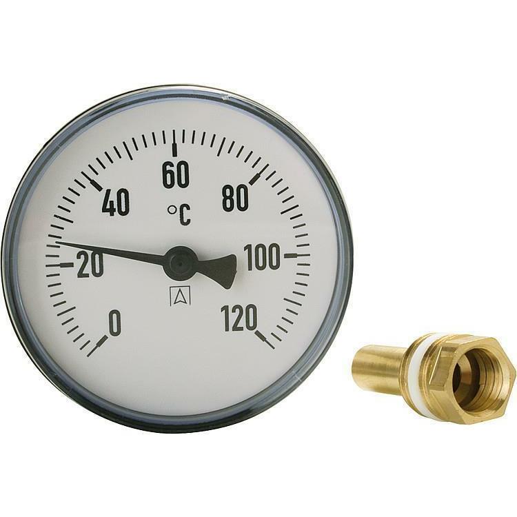"""Bimetall-Zeigerthermometer ø 80 mm DN 15 (½"""") 40 mm"""
