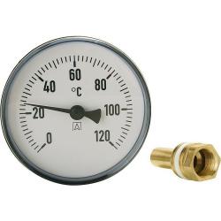Bimetall-Zeigerthermometer ø 80 mm DN 15...