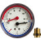"""Thermomanometer TM 80 80 mm durch, R 1/2"""", 0-4 bar"""
