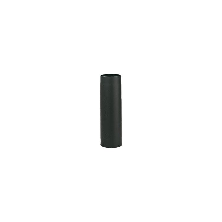 lackiertes Rauchrohr DN150, Länge = 150mm, schwarz