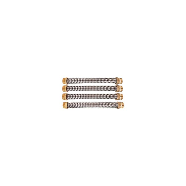 """Pufferspeicher-Verbinder-Wellrohrset 11/2""""AG x 200mm, V4A, VPE = 4 Stück"""