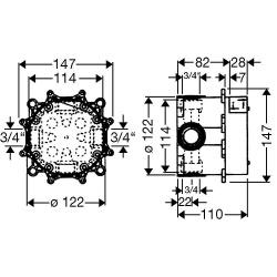HG I-Box Unterputzeinbaukörper