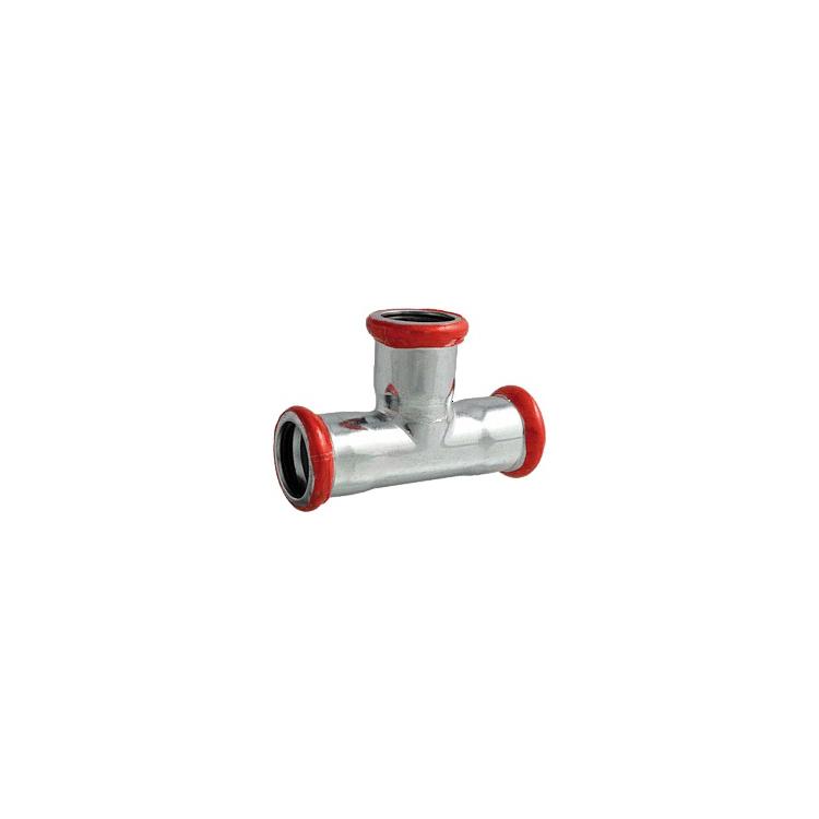 C-Stahl T-Stück red. 22x15x22