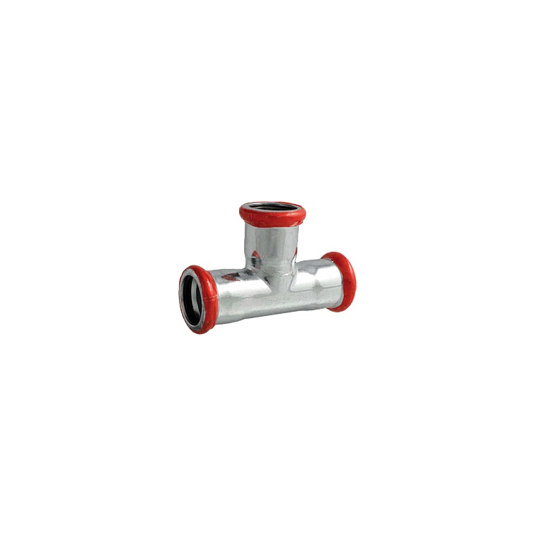 C-Stahl T-Stück red. 54x42x54